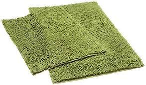Loop Bath Rug Diny Home 2 Chenille Loop Bath Rug Set Mykonos Series Green
