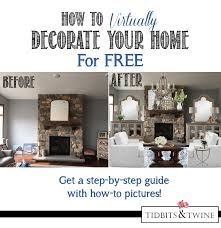 how to virtually decorate your home tidbits u0026twine