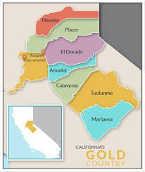 foothill cus map gold country
