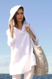 hooded white linen tunic linen tunic with sleeves casual