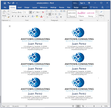 Business Card In Word How To Make Business Cards In Microsoft Word With Pictures How To