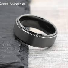 gunmetal wedding band grey wedding band gunmetal color men s wedding band