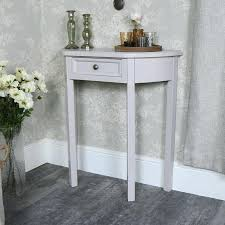 small half moon console table with drawer small half moon console table small half moon table with drawer