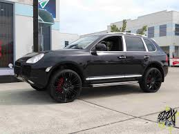 porsche cayenne black wheels porsche cayenne 4x4 black rims kmc wheels