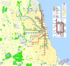 chicago map streets chicago printable map illinois us exact vector map g