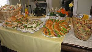 ideas for bridal luncheon baby shower luncheon pasta and sandwich platters from