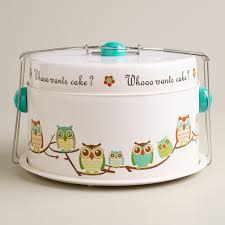 Owl Desk Accessories by Whooo Wants Cake Owl Cake Carrier World Market