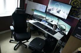 Computer Gaming Desk Chair Desk Chair Computer Gaming Desk Chair Battle Station Setup White