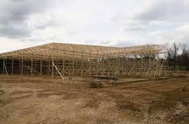 Setting Pole Barn Posts Mushroom Warehouse May Be World U0027s Largest Pole Barn