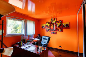 trend 25 vibrant home offices with bold orange brilliance