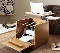 Smallest Computer Desk Interior Smart Folding Computer Desk Printer Storage Into Wood