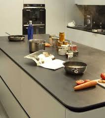 new kitchen countertop material creating clean contemporary