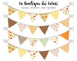 fall bunting banners flags clipart thanksgiving