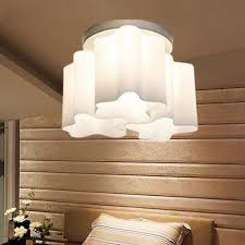 compare prices on decorative ceiling light online shopping buy led ceiling lights 220v e27 art cream cloud shaped ceiling lamp iron glass 15