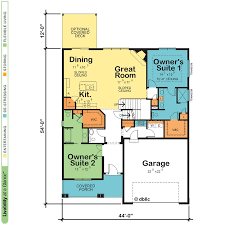 house plans with two owner suites design basics