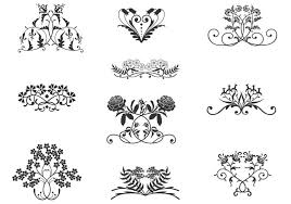 floral ornament vector set free vector stock