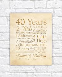 40th wedding anniversary gifts for parents wedding anniversary gift ideas for parents in imbusy for