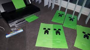 minecraft goody bags simple creeper goody bags vincent s minecraft birthday party