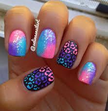 nail designs matte gradient cheetah print nail tutorial