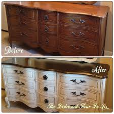 before and after on a bassett french provincial dresser it was