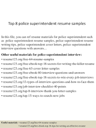 Construction Superintendent Resume Samples by Top 8 Police Superintendent Resume Samples 1 638 Jpg Cb U003d1438242750