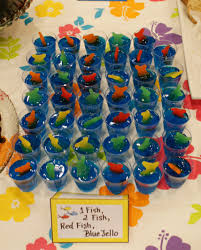 dr seuss baby shower decorations dr seuss themed baby shower jello shooters blue jello and fish