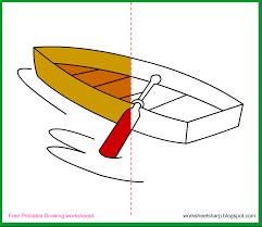 free drawing worksheets printable boat drawing worksheets