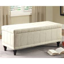 Ottoman Storage Bench Bedroom Leather End Of Bed Bench Upholstered Ottoman Seats Inside