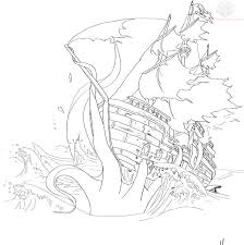 awesome sunken pirate ship coloring pages images style ideas