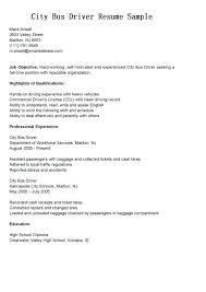 Bus Driver Resume Template Driver Sample Resume Resume Samples And Resume Help