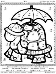 3 digit addition subtraction coloring worksheets printable