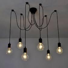 Modern Industrial Chandelier Ceiling Light Signstek Retro Industrial Chandelier Vintage Edison