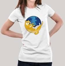 Doge Meme T Shirt - doge trolls firefox women s meme t shirt teez in