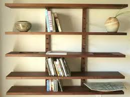 Wall Mount Bookcase Shelves Inspiring Wall Mounted Wooden Shelves Wall Mounted