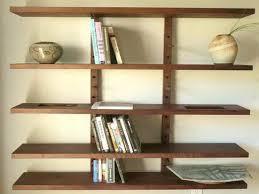 Bookshelf Wall Mounted Shelves Inspiring Wall Mounted Wooden Shelves Wood Wall Shelving