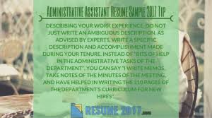 updated administrative assistant resume templates for 2017