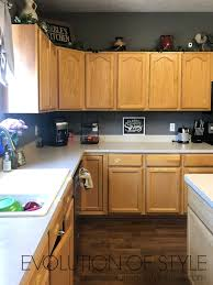 what color goes with oak cabinets painted kitchen cabinets in white dove evolution of style