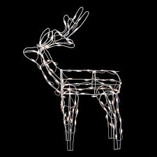 Lighted Sleigh And Reindeer by Outdoor Lighted Reindeer 27 Diy Outdoor Christmas Decorations To