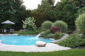 Landscaping Around Pool Landscape Berms Around Pool Stone Walking Path Design Ideas