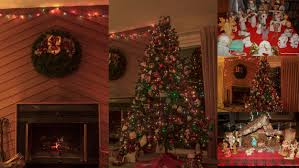 christmas decorated houses inside home design