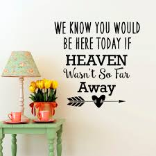 popular heaven mural buy cheap heaven mural lots from china heaven wall decal quotes we know you would be here today if heaven wasn t so
