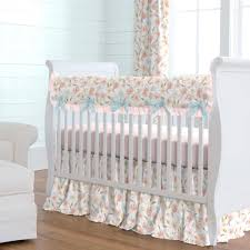Surfer Crib Bedding Pink Hawaiian Floral Crib Bedding Carousel Designs