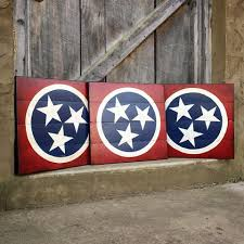 Tennesse Flag The Tennessee Tristar Hand Painted In Classic Colors Always Makes