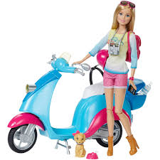 barbie toy cars barbie travel doll with scooter barbie doll friends and family