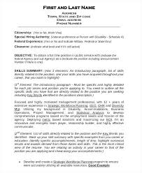 Government Sample Resume Sample Resume For Government Employee Federal Resume Builder Free