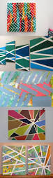 creative tape painting art paintings craft and teen