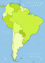 World Map Of South America by Map Of South America Political Division Countries Are Separate