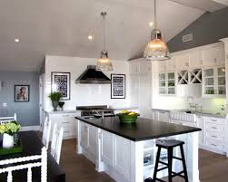 White Kitchen Cabinets With Black Granite White Cabinets Black Countertops Custom White Cabinets Black