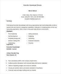 resume exles housekeeping housekeeping resume exle 9 free word pdf documents
