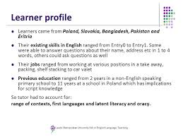 context and effect of english for employability training materials